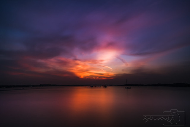 Sunset at changi coastwalk