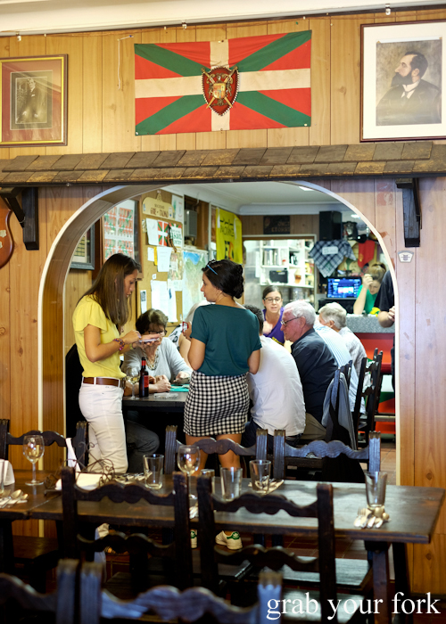 Locals dining at the Gure Txoko Basque Club in Sydney