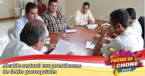 Alcalde sesionó con presidentes de GADs parroquiales