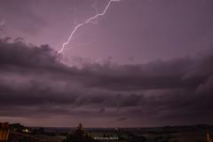 Un soir d'orage à La Sauvetat, Gers, France.
