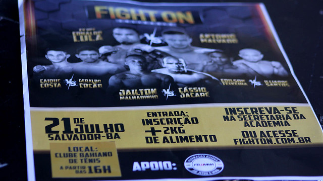 Fight On quer reviver bons momentos do MMA baiano. Fotos: Gabriela Simões