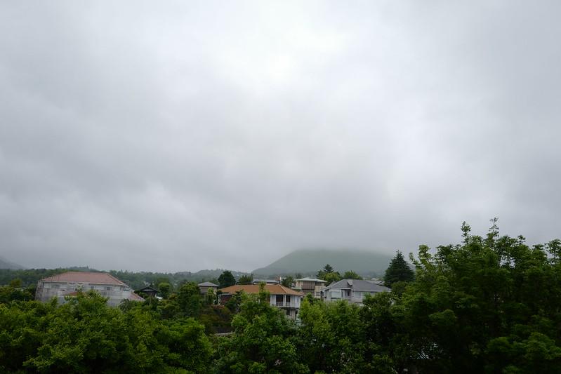HOTEL SPA ANDA RESORT伊豆高原ロンボック館大パノラマ展望台から望む伊豆の山 大室山