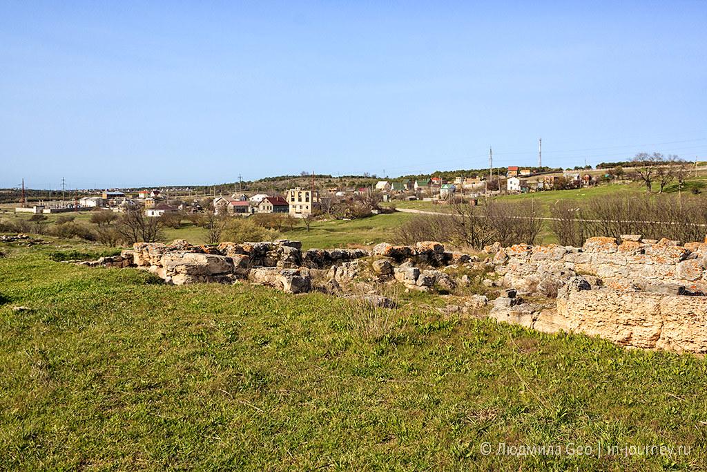 античная деревня в Крыму недалеко от Севастополя
