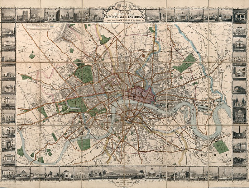 John Tallis - Tallis's illustrated plan of London and its environs (1851)