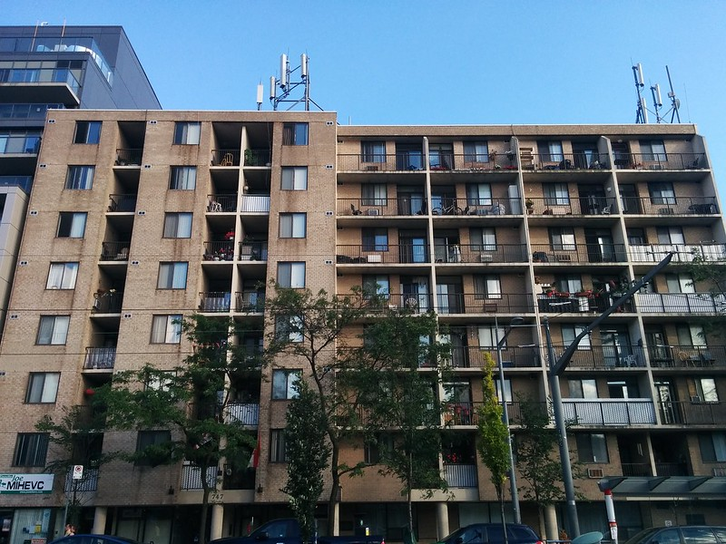 Balconies of yellow brick #toronto #stclairwest #stclairavenue #bracondalehill #yellow #brick #balcony