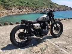 Kawasaki w800 Vintage Style Brat Custom by Kevils Speed Shop