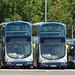 Stagecoach 16951 MX07BVA, 16953 MX07BVD & 18147 PX04DOA Gillmoss depot 28 June 2018