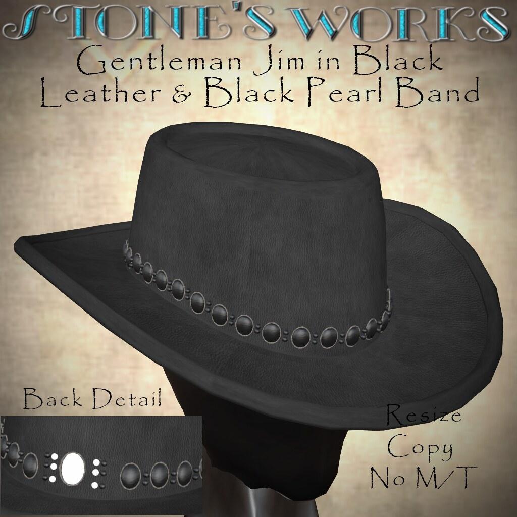 CB Hat Gentleman Jim Blk Pearl Stone's Works - TeleportHub.com Live!