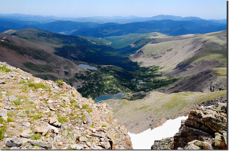 Looking down at Mammoth Gulch from James Peak trail  (1)