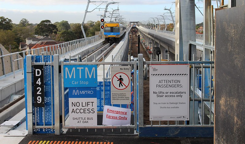 Murrumbeena skyrail station, looking towards Hughesdale