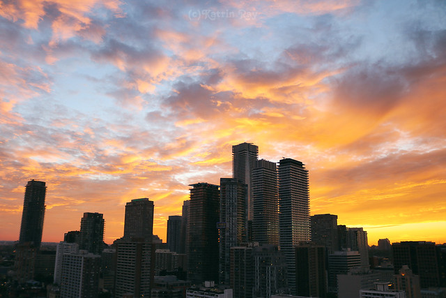 Amazing Sunset Skies in the Growing City of Toronto