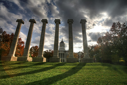 The Columns and Jesse Hall