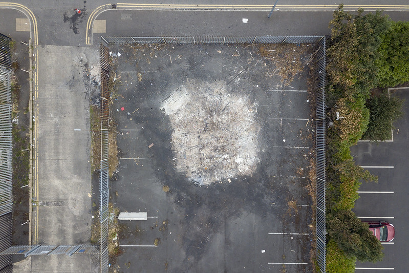 Bonfire Aftermath from Above