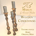 TB Maison Wooden Candlesticks AD