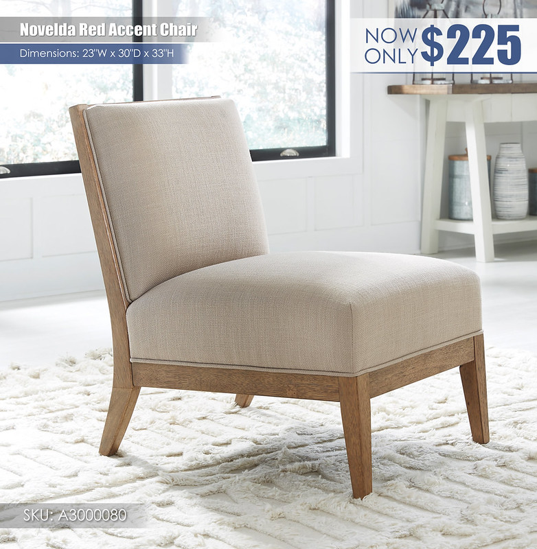 Novelda Red Accent Chair_A3000080