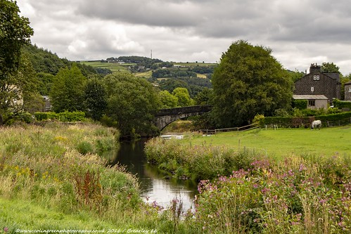 River Calder and Brearley Bridge.