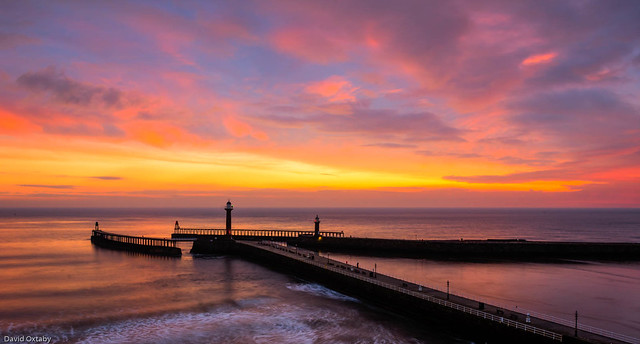 Whitby winter sunrise