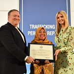 Secretary of State Michael R. Pompeo, joined by Advisor to the President Ivanka Trump, unveils the 2018 Trafficking in Persons (TIP) Report on Thursday, June 28, 2018. As required by the Trafficking Victims Protection Act, the TIP Report assesses government efforts around the world to combat human trafficking and highlights strategies to address this crime and protect the victims. This year's report, the 18th installment, includes narratives for 187 countries and territories, including the United States.  During the ceremony, Secretary Pompeo and Advisor to the President Ivanka Trump honored the 2018 TIP Report Heroes, men and women from around the globe whose tireless efforts have made a lasting impact on the fight against modern slavery.   Go to www.state.gov/j/tip/ for more information.