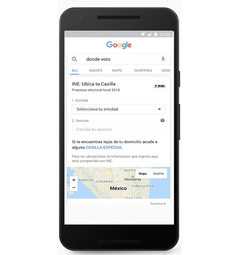 Votar con Google