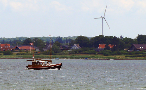 A boat off Siø, a farm on an island in Denmark