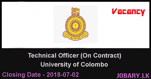 Technical Officer (On Contract) – University of Colombo