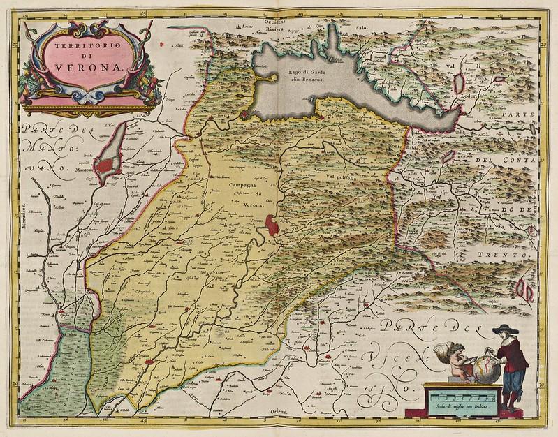 Joan Blaeu - Territorio di Verona (1665)