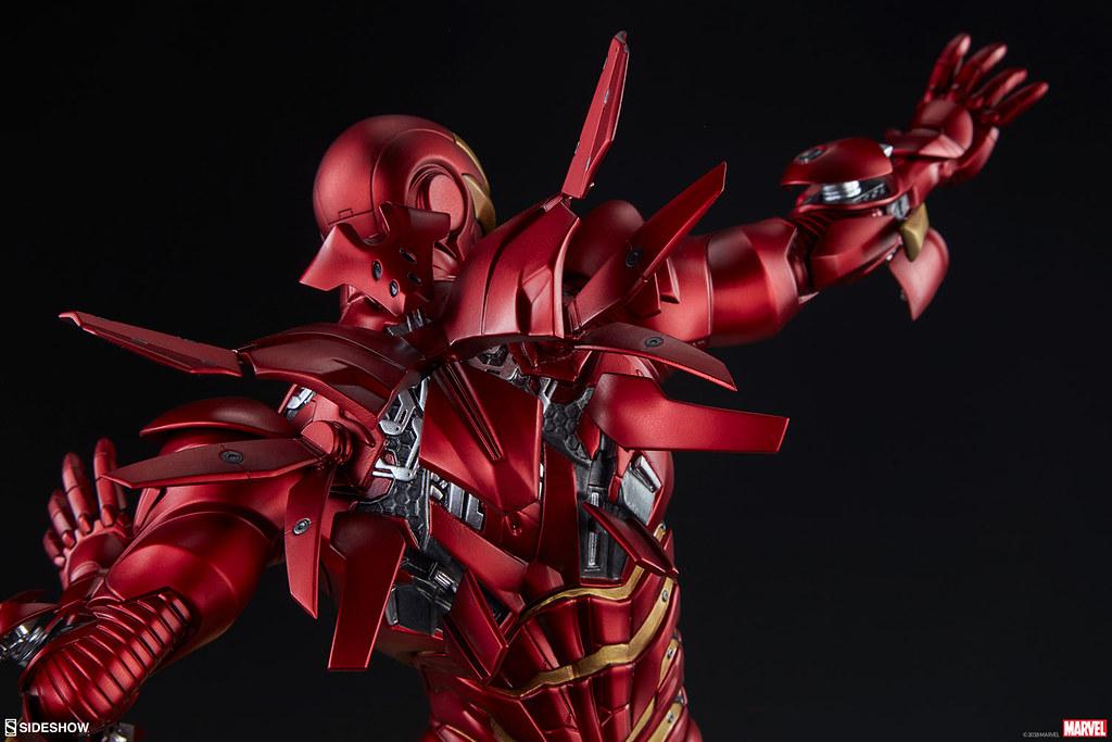 Sideshow Collectibles Marvel【鋼鐵人 絕境馬克2】Iron Man Extremis Mark II 1/5 比例全身雕像作品