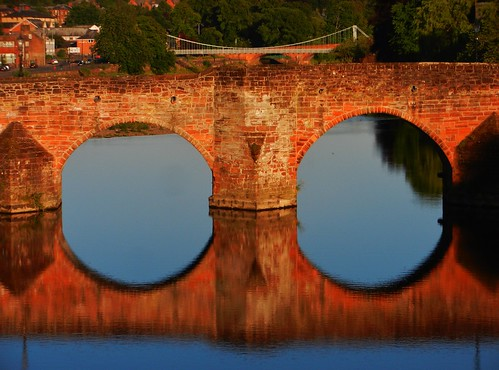 dumfriesandgalloway dumfries nith river evening sunset bridge old reflections calm water