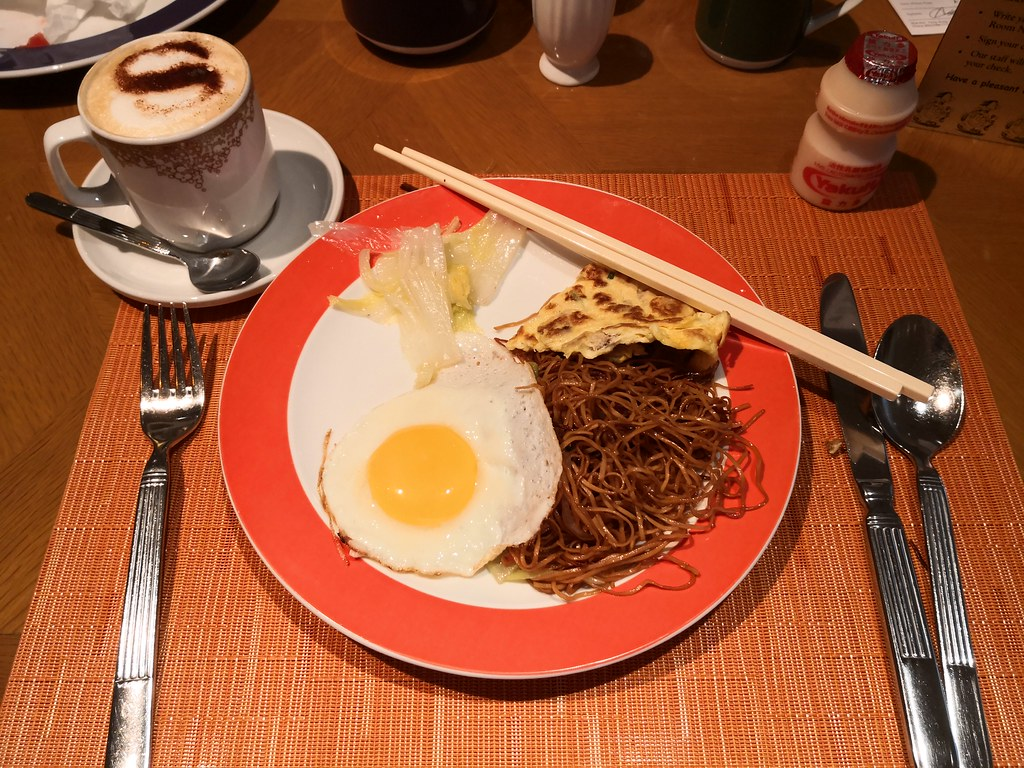 Fried soya noodle with egg