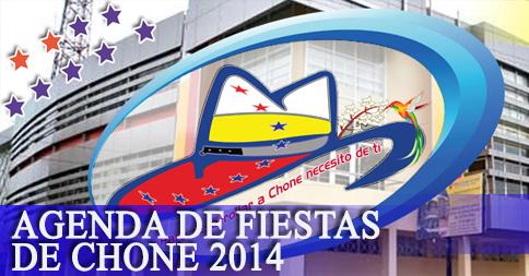 Agenda de fiestas de Chone 2014