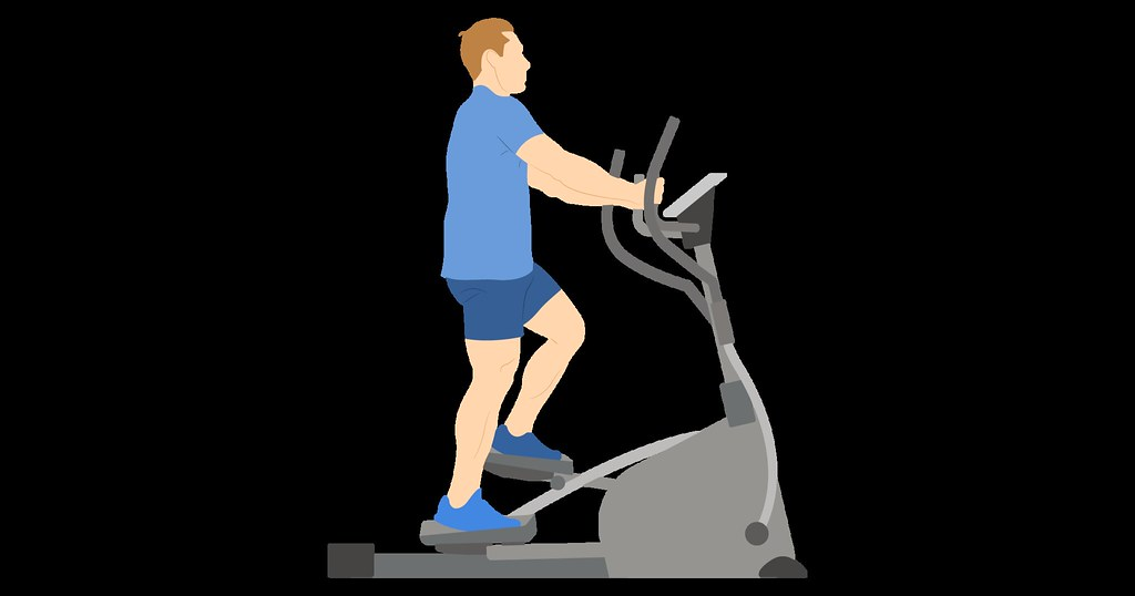 Man using cross-trainer