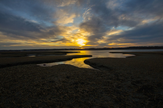 Sunset On the Marsh, Pentax K-5, Sigma 10-20mm F3.5 EX DC HSM