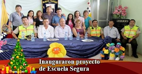 Inauguraron proyecto de Escuela Segura