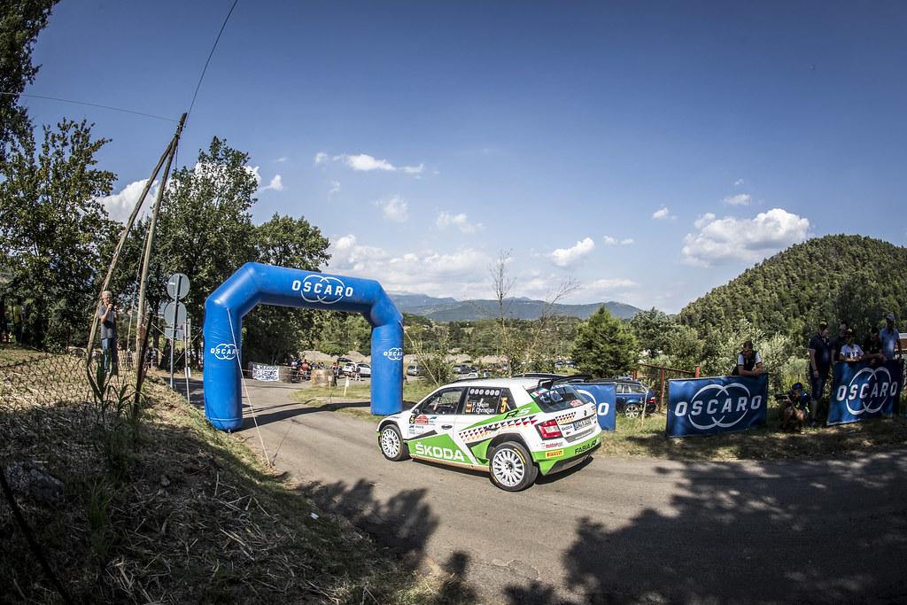 05 Fabian Kreim G(ER), Frank Christian (GER), Skoda Auto Deutschland, SKODA FABIA R5, during the 2018 European Rally Championship ERC Rally di Roma Capitale,  from july 20 to 22 , at Fiuggi, Italia - Photo Gregory Lenormand / DPPI