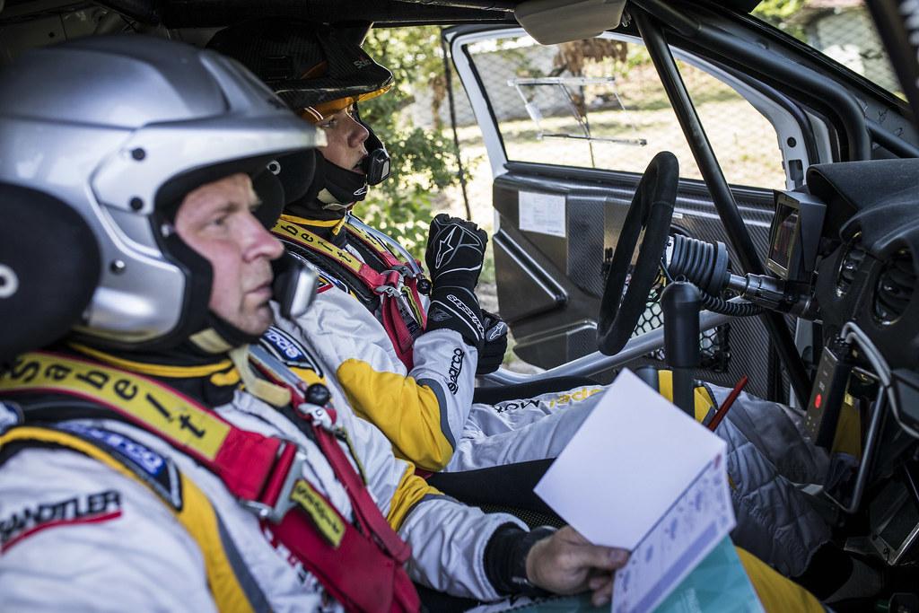 SESK Martin ( lva), FRANCIS Renars (lva), Opel adam portrait during the 2018 European Rally Championship ERC Rally di Roma Capitale,  from july 20 to 22 , at Fiuggi, Italia - Photo Gregory Lenormand / DPPI