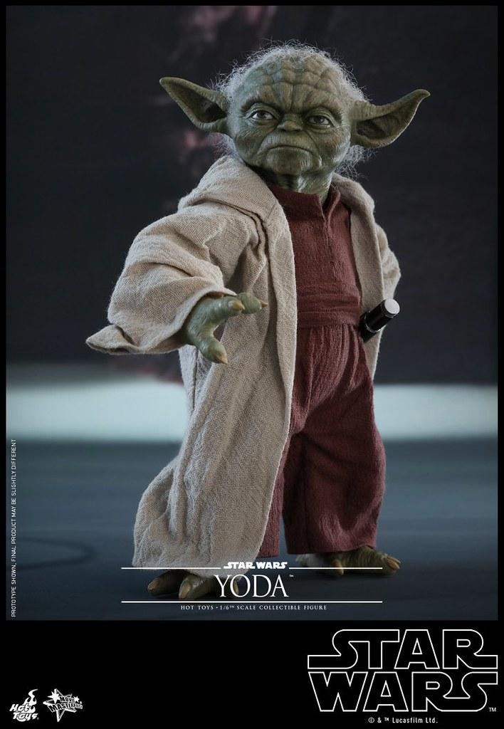 重現尤達接下原力閃電的經典場景!! Hot Toys – MMS495 –《星際大戰二部曲:複製人全面進攻》尤達 Yoda 1/6 比例人偶作品