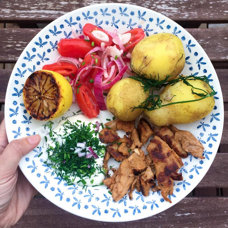 Vegetariska midsommarrecept sommartallrik