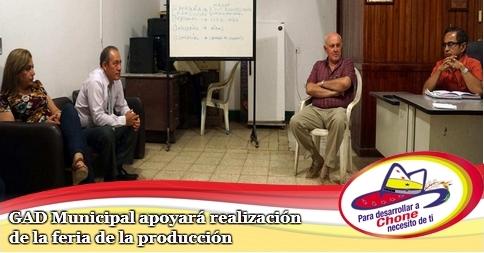 GAD Municipal apoyará realización de la feria de la producción