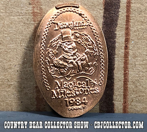 2005 Disneyland 50th Pressed Penny Country Bear Christmas - Country Bear Collector Show #160