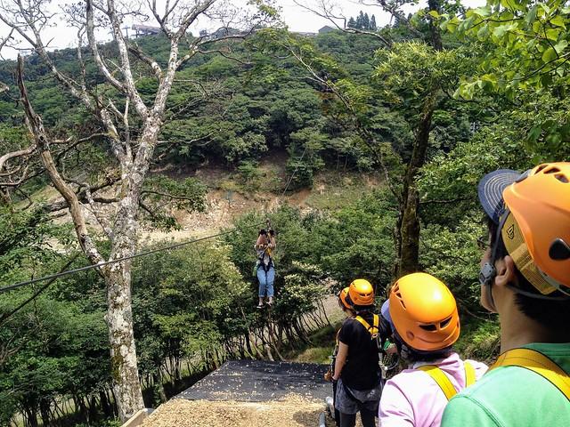蓬莱山 琵琶湖バレイ ジップライン LINE5 Falcon(ハヤブサ)