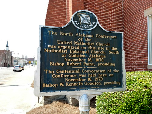 Gadsden, Alabama - North Alabama Conference of the United Methodist Church Historical Marker