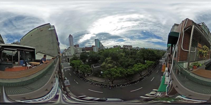 二二八公園俯視環景照