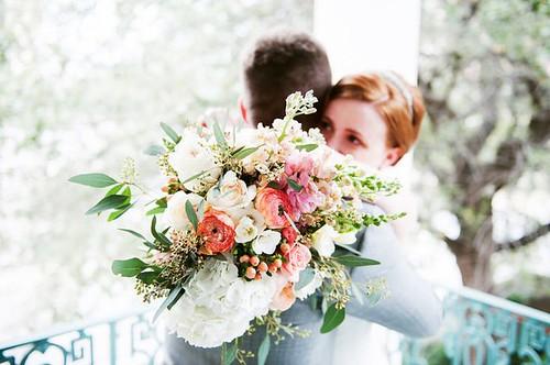 Weddings Flower Arrangements : Big lush bouquet