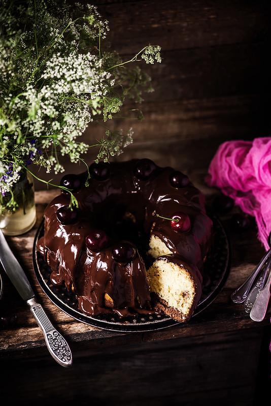 Сhocolate cherry marble band cake.4  copy