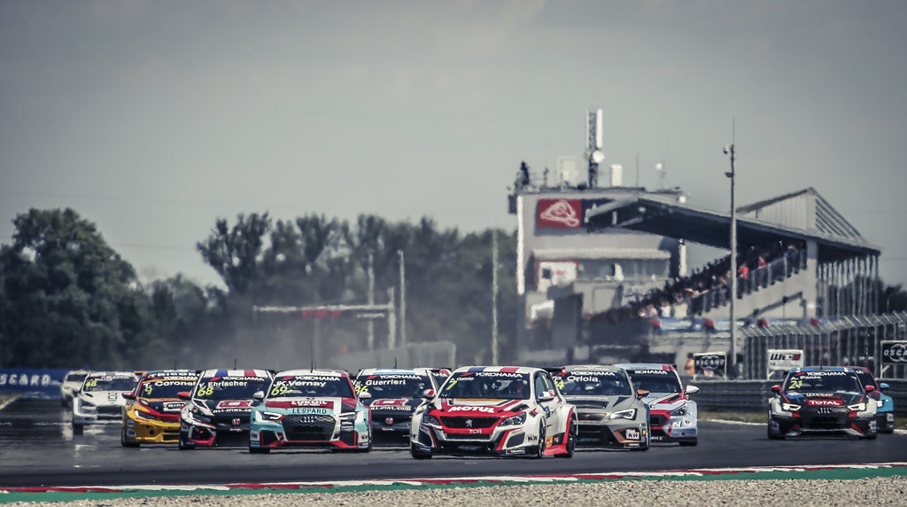 07 COMTE Aurelien, (fra), Peugeot 308 TCR team DG Sport Competition, action Start race 1 during the 2018 FIA WTCR World Touring Car cup race of Slovakia at Slovakia Ring, from july 13 to 15 - Photo Jean Michel Le Meur / DPPI