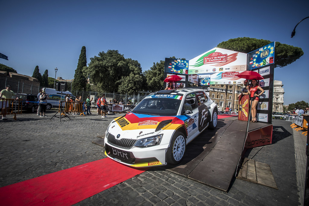 16 Albert Von Thurn Und Taxis (GER), Bjorn Degandt (BEL), BRR Baumschlager Rallye & Racing Team, SKODA FABIA R5, during the 2018 European Rally Championship ERC Rally di Roma Capitale,  from july 20 to 22 , at Fiuggi, Italia - Photo Gregory Lenormand / DPPI