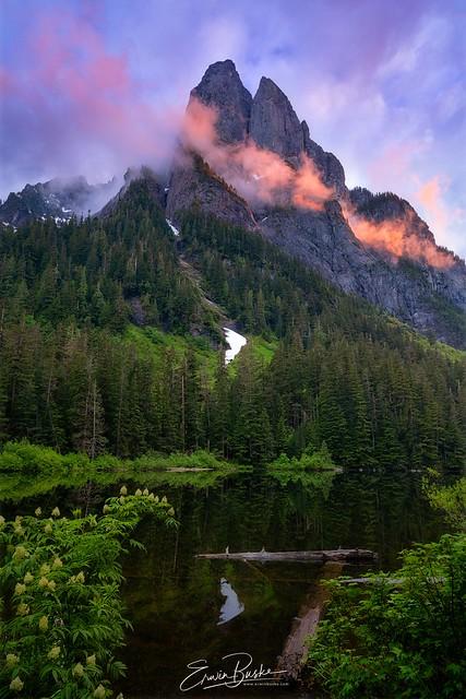 Barclay Lake: Deep Woods Sunset