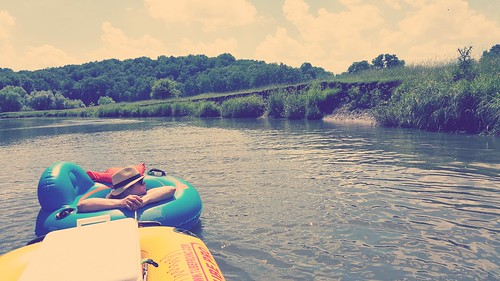 Tubing down the Pecatonica River in southwest Wisconsin