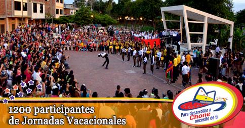 1200 participantes de Jornadas Vacacionales