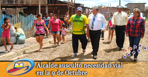 Alcalde auscultó necesidad vial en la 9 de Octubre